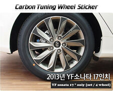"Carbon Tuning Wheel Mask Sticker For Hyundai YF Sonata ;i45 17"" [2013~2014]"