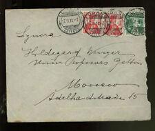Switzerland 1911 5c, 10cx2 Helvetia Lugano Cover #305