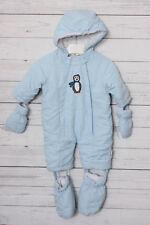 Playshoes Jungen - Baby Schneeanzug, Schneeoverall Pinguin, Gr. 62, Blau