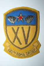 485TH BOMB GROUP PATCH 15TH AAF AIR FORCE A2 JACKET WW2 COPY BULLION WIRE