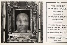 THE HEAD of BLESSED OLIVER PLUNKET ST PETER'S CHURCH DROGHEDA LOUTH IRELAND RPPC