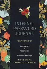 MODERN FLORAL INTERNET PASSWORD LOGBOOK - CHARRO, MIA (CON) - NEW BOOK