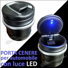 Posa Posa cenere Ceneriera Cilindro auto Luce LED per Fiat 500X CITY LOOK