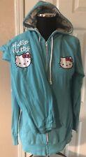 Hello Kitty Blue Hoodie & Pants Tracksuit Sleep Set Pajamas Women's Size L