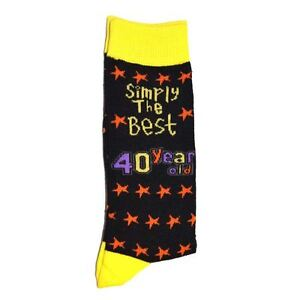 40th Birthday Gifts Simply The Best Socks One Adult Size Anniversary Present