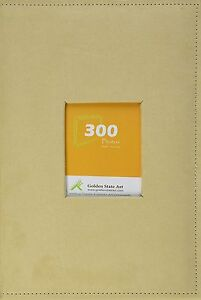 "Suede Cover Beige Holds 300 4""x6"" pictures, 3 per page Photo Album"