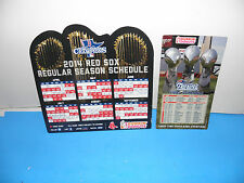 2014 Boston Red Sox &  NE Patriots 3-Trophy Trifecta Champions Magnet Schedules