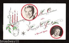 "LIBERACE (Behind the Candelabra) ""Merry Christmas"" 1956 Fan Club Postcard"