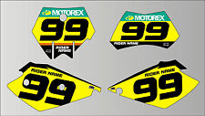 2004 -2007 KTM SX EXC PRINTED RACE BACKGROUNDS GRAPHICS
