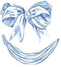 Blue Bows Swags Baby Ribbons Boy Shower 25 WALLIES Cutouts Decal Stickers Border