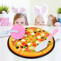 11Pcs Mini Pizza Fast Food Slices Cutting Pretend Play Educational Kids Toy Well