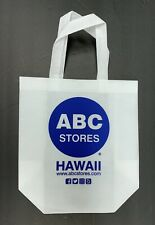 ABC Stores Hawaii Shopping Bag - Reusable  - White with Blue Print - NEW