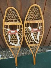 "VINTAGE SNOWSHOES 37"" Long x 11"" Wide with  Bindings READY TO USE"