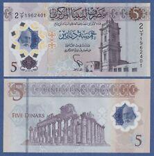 Libya 5 Dinar (2021) P-New, UNC POLYMER NOTE - NEW DESIGN *DNH*