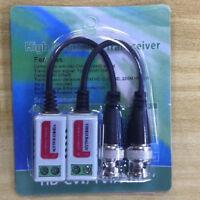 10Pcs Video Balun AHD CVI TVI Coax to UTP Cat5/5e/6 Connector HD 1080P CCTV BNC