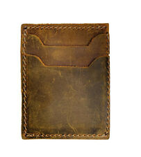 Genuine Handmade Leather Minimalist Wallet GREEN Card Holder