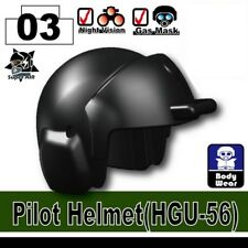 HGU-56 (W96) Pilot Helmet Military compatible with toy brick minifigures