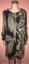 DVF Diane Von Furstenberg Davi Feather Print Shift Dress Sz. 0