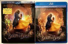 DISNEY BEAUTY AND THE BEAST 2017 BLU RAY DVD 2 DISC SET + SLIPCOVER SLEEVE LIVE