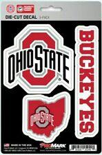 Ohio State Buckeyes ProMark Die-Cut Decal Stickers 3 Pack