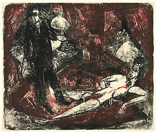 Ernst Kirchner Reproduction: The Murderer (Der Moerder) - Fine Art Print
