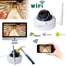 Vandalproof Wireless Wifi IP 720P Dome IP Camera Network ONVIF Outdoor Security