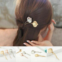 Women Pearl Leaf Hair Clip Hair band Comb Headdress Bobby Pin Barrette Hairpin