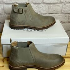 Steve Madden Lonny Taupe SDE Leather Boots Sz 8 Mens New NWB