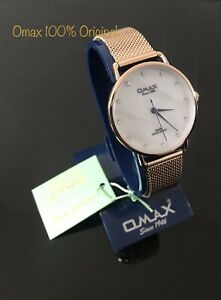 OMAX Analogue White Dial  Ladies Watch (Japan) Move 100% Authentic New