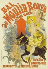 AP79 Vintage 1889 French Moulin Rouge Cheret Advertisement Poster Card Print A5