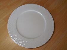 "Villeroy & Boch Germany 1748 Set of 4 Dinner Plates 12"" Lattice White Wide Rim"