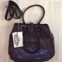 Campomaggi Leather Bag Melissa C3973 VL Dark Brown Hand Shoulder Medium NWT