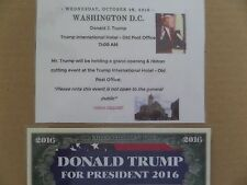 DONALD TRUMP, GRAND OPENING & RIBBON CUTTING EVENT,OLD POST OFFICE, WA. D.C. TIC
