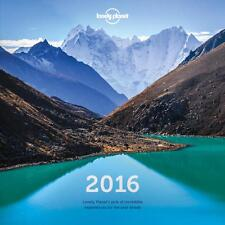 Lonely Planet Wall Calendar 2016 Inredible Places in the World Calendar 2016 NEW