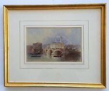 "Listed British Artist Edwin Thomas Dolby (1849-1895)-W/C - 6.5 x 10"". Signed"