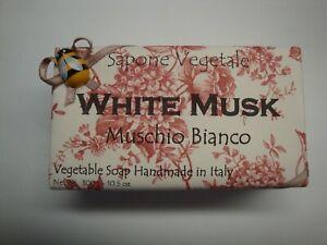 Sapone Vegetale Handmade in Italy 10.5oz Bath Bar Soap White Musk Muschio Bianco