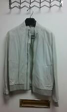 Versace Leather Jacket,  Men Size US 38 , EU 48, Lite Gray