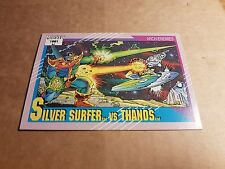MARVEL UNIVERSE 1991 SERIES 2 CARD #113 SILVER SURFER/THANOS