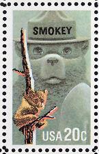 US 2096 @ (1984) 20c - MNH -{EFO: color shift}  - Smokey the Bear {Sheet of 50}
