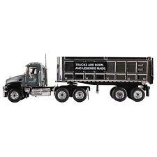 1:64 First Gear Mack Granite Semi Truck w/Chrome Dump Trailer *NIB!*