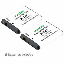 2x Kastar Battery for Samsung BP-70A AQ100 DV150F ES65 ES67 ES70 ES71 ES73 ES74