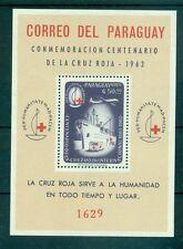 CROCE ROSSA - RED CROSS CENTENARY PARAGUAY 1964 block A