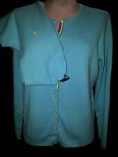 Ralph Lauren Polo Womens 2 Piece Sweater Cardigan Golf Set Shirt Blouse M Medium