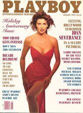 PLAYBOY JANUARY 1990 Peggy McIntaggart JoanSeverance TomCruise AndrewDiceClayMLR