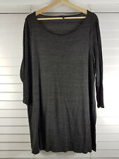EILEEN FISHER sz 20  (or  2X ) womens grey Tunic Top [#3472]