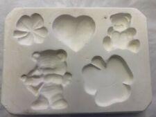 Lakeland Molds 140 Clover Bear Heart Magnets- Ceramic Mold Slip Casting Ceramics