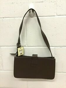 FOSSIL Brown Leather Messenger Bag NWT