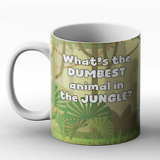 What's the dumbest animal in the jungle? Polar bear joke - Printed Mug