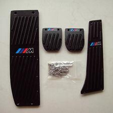Black M-Tech Foot Rest MT Pedal Set For BMW E30 E36 E46 E87 E90 E91 E92 E93 M3
