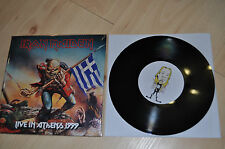 "Iron Maiden 7"" single live in Athens 1999 Ed Hunter Reunion Tour Greece black"